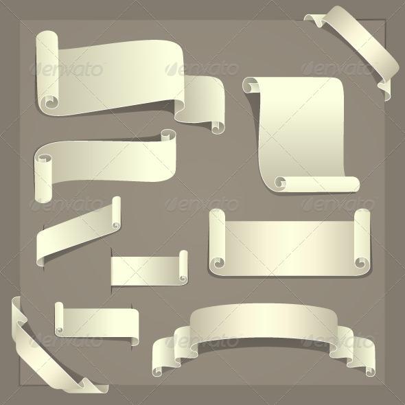 Paper Design Elements - Decorative Vectors