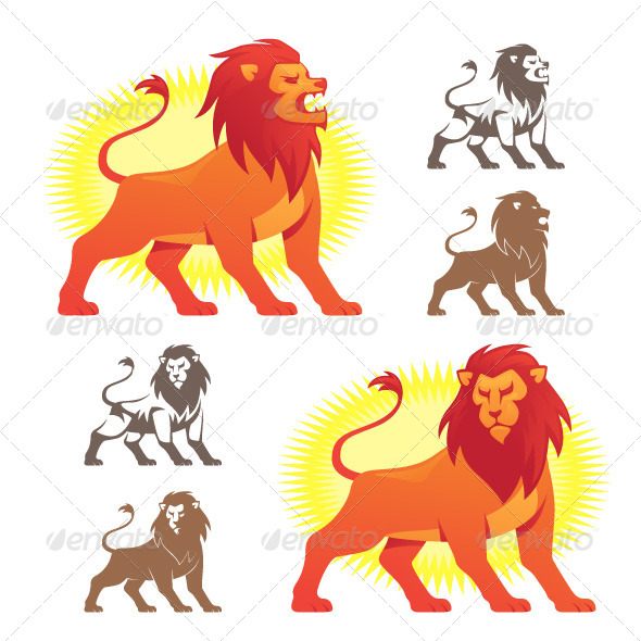 Lion Symbols - Animals Characters