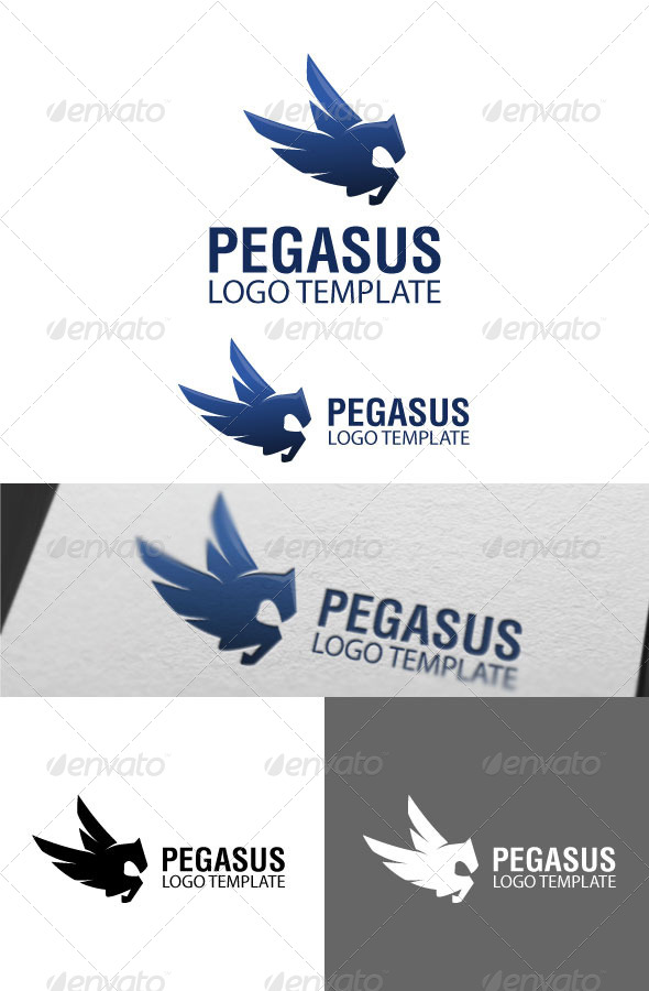 Pegasus Logo Template - Symbols Logo Templates
