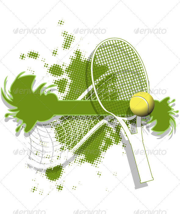 Tennis Background - Sports/Activity Conceptual