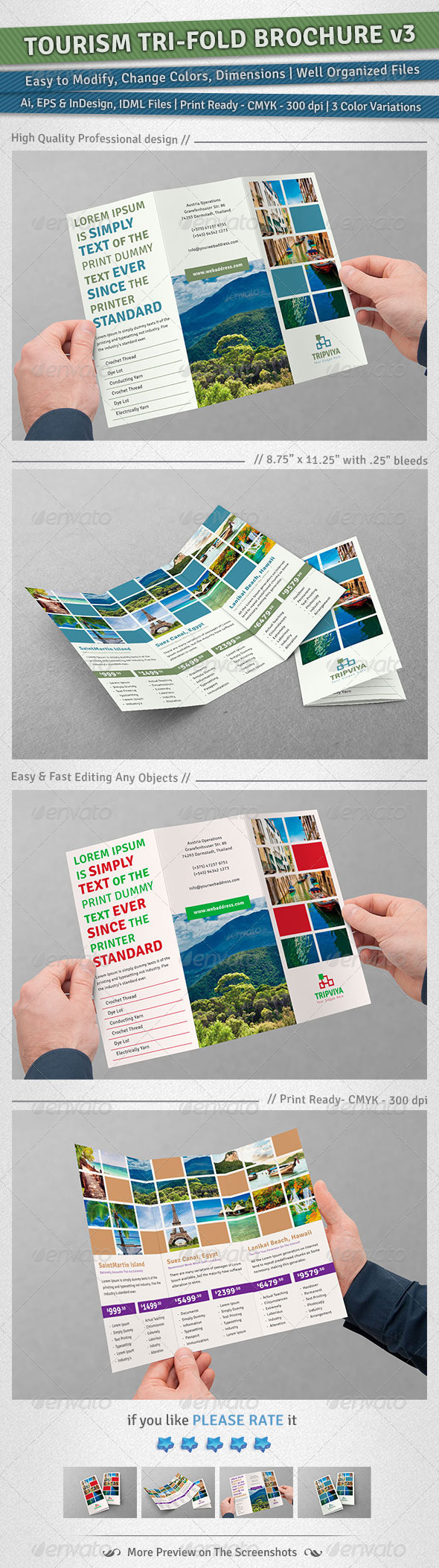 Tourism Tri-Fold Brochure | Volume 3 - Corporate Brochures