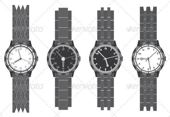 Wristwatch Set - Decorative Vectors