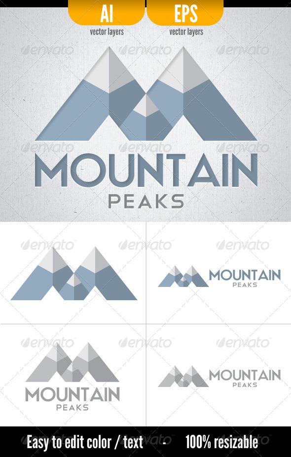 Mountain Peaks - Letters Logo Templates