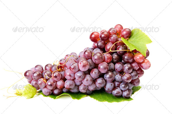 Ripe,tasty grapes on a white. - Stock Photo - Images