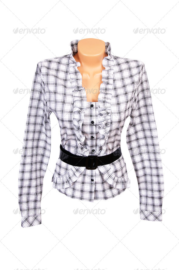 Elegant  blouse on a white. - Stock Photo - Images