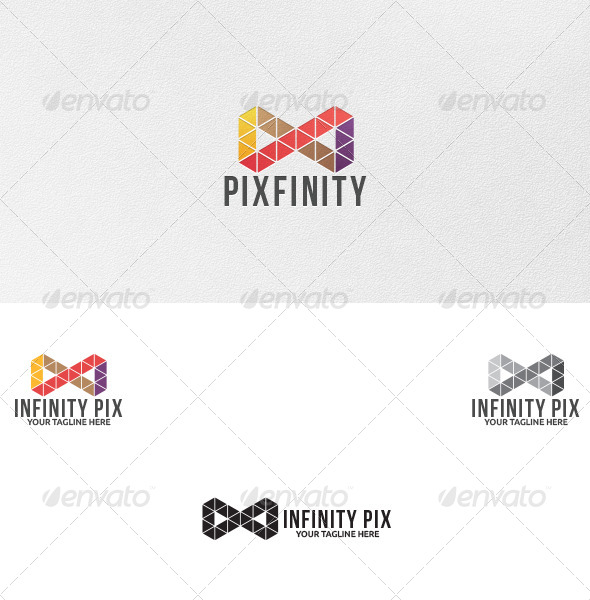 Infinity Pixels - Logo Template - Vector Abstract