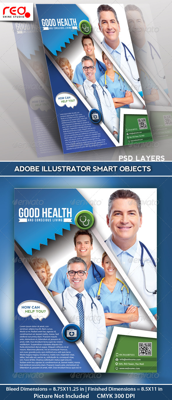 Hospital Flyer Poster Magazine Template by redshinestudio – Hospital Flyer Template
