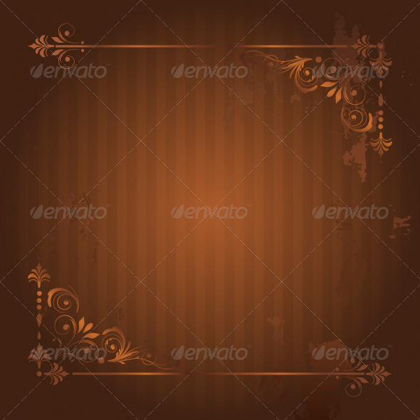 Vintage Frame on Grunge Background - Borders Decorative