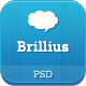 Brillius - Creative One Page PSD template Nulled