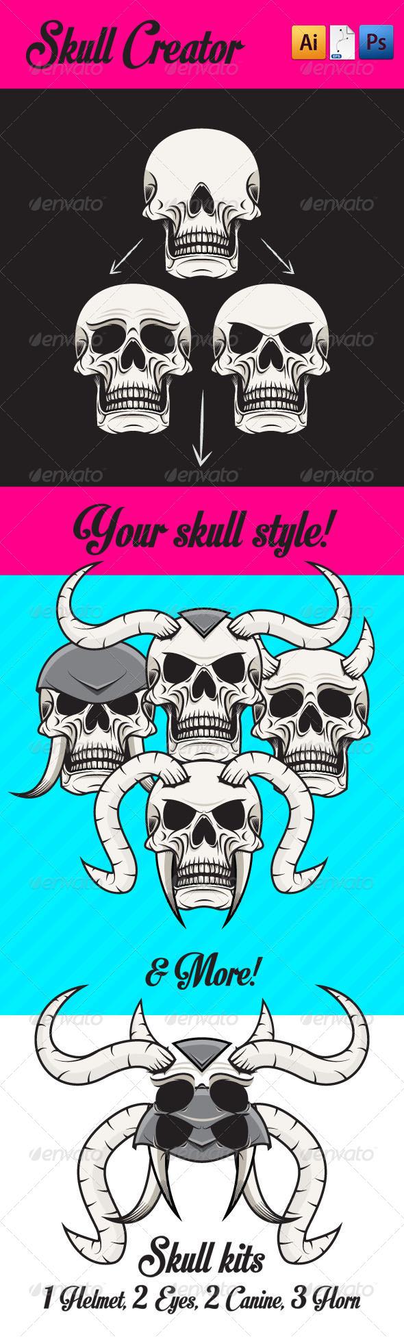 Skull Creator - Vectors