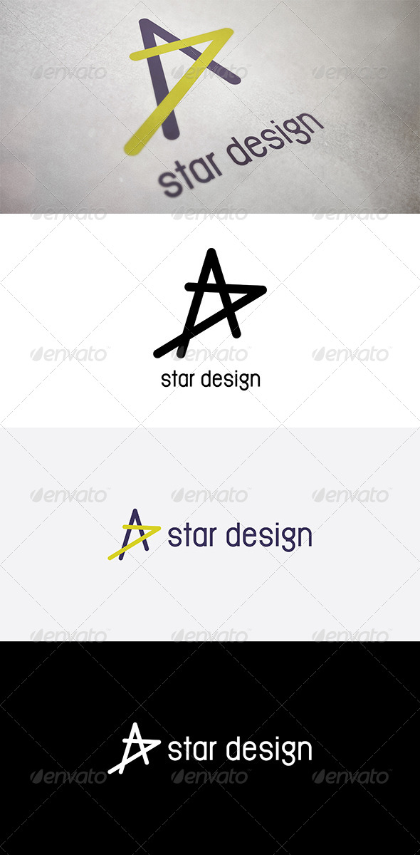 Abstract Star Design - Abstract Logo Templates