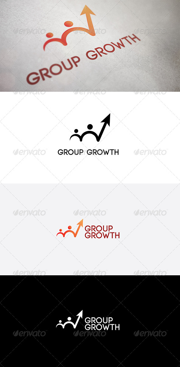 Group Growth - Vector Abstract
