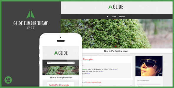 Glide – A Responsive Tumblr Theme