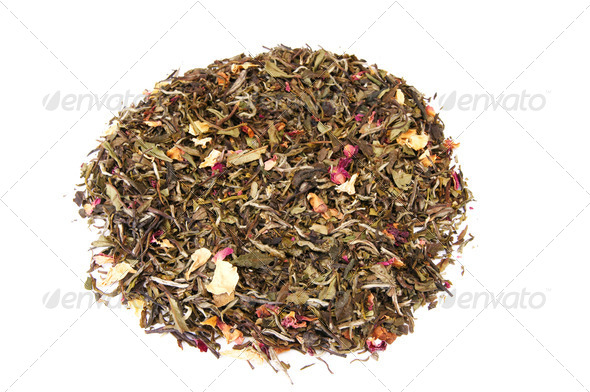 Smelling tea on a white.       - Stock Photo - Images