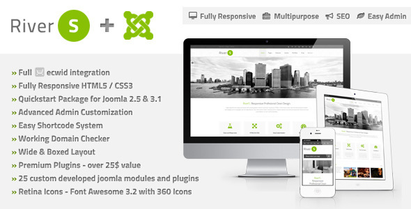 Image of RiverS Responsive Multi-Purpose Joomla Template