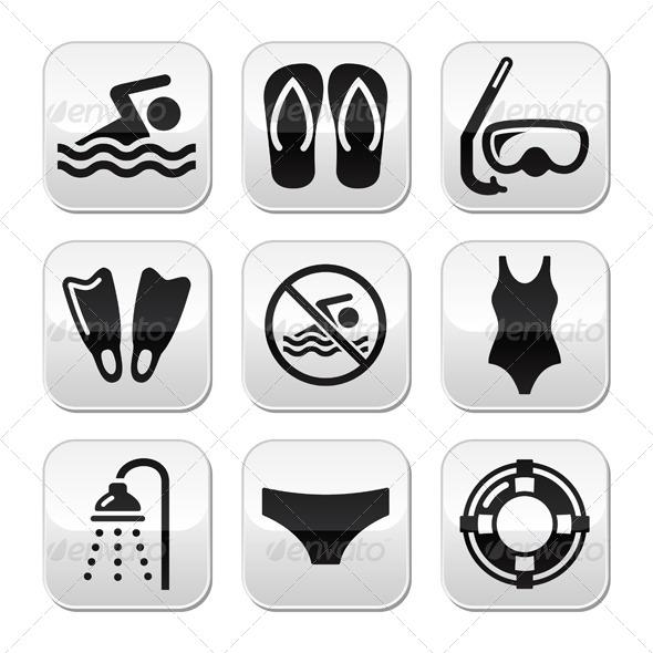 Sport Buttons Set - Sports/Activity Conceptual