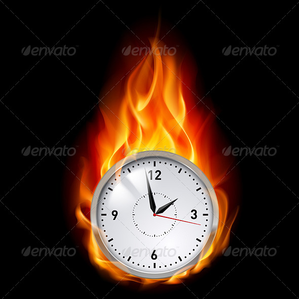 Clock in Fire - Concepts Business