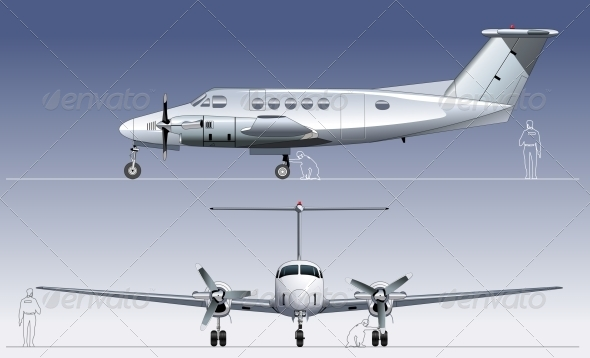 Vector Civil Utility Aircraft - Man-made Objects Objects
