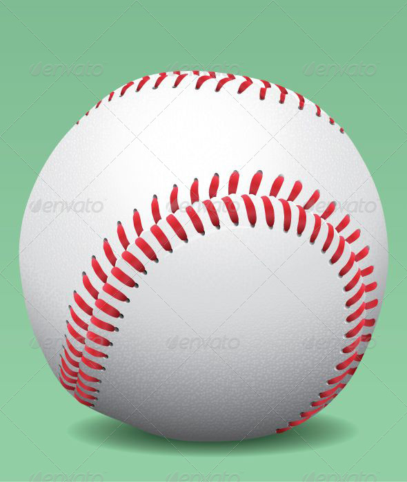 Realistic Baseball Ball  - Sports/Activity Conceptual