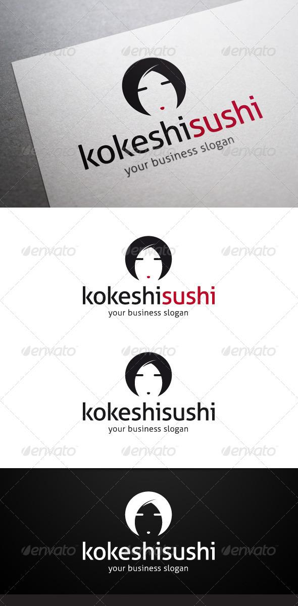 Kokeshi Sushi Logo - Humans Logo Templates