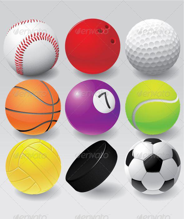 Colorful Sport Balls Set - Sports/Activity Conceptual