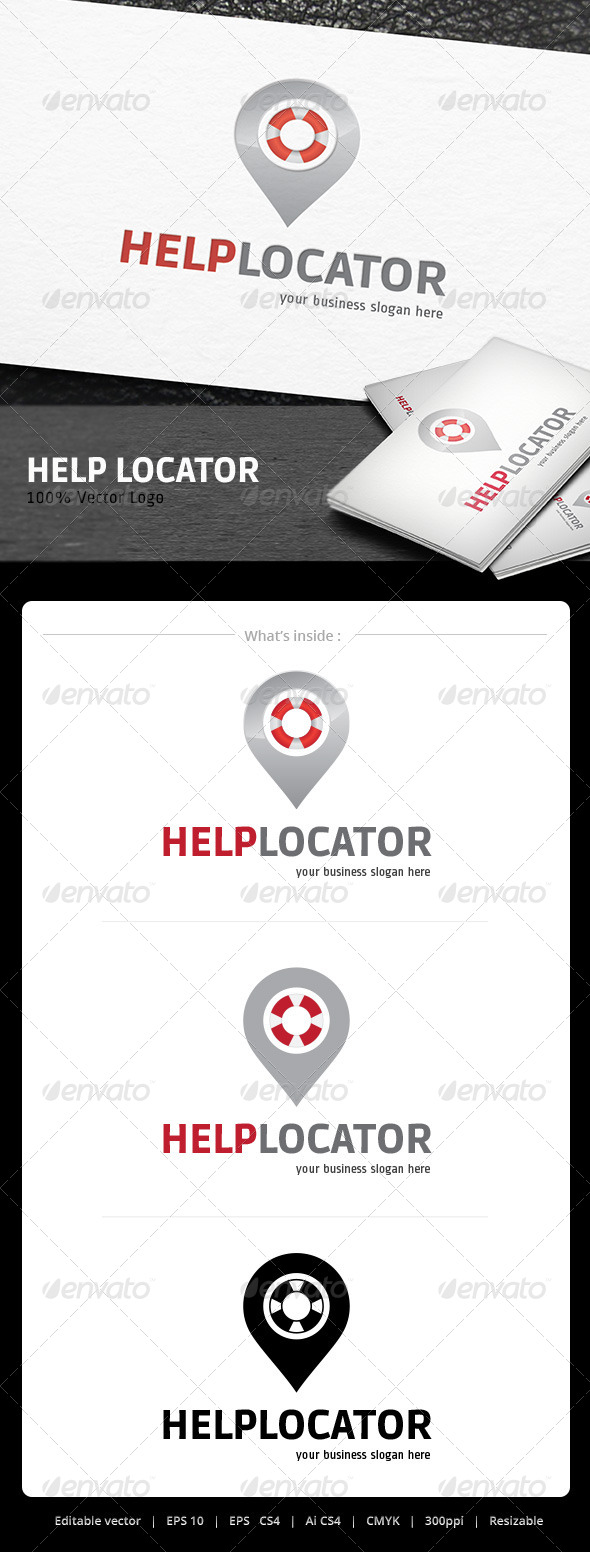 Help Locator logo - Objects Logo Templates