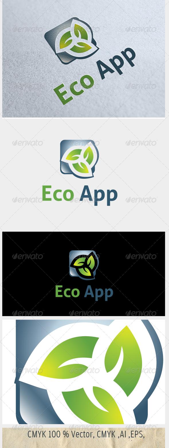 Eco App - Nature Logo Templates