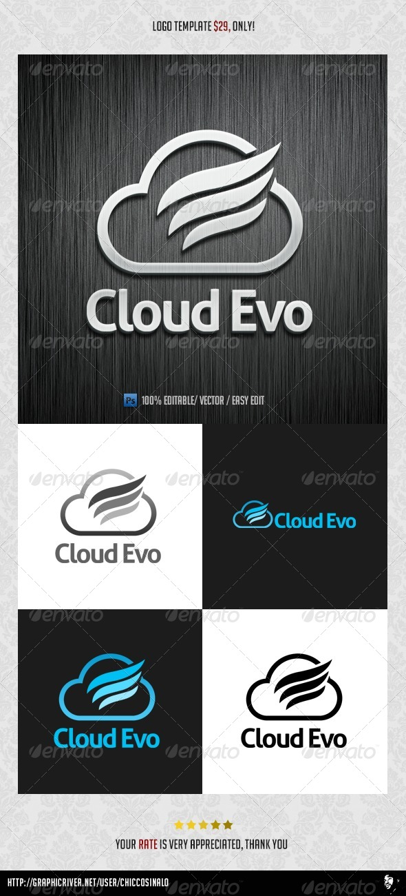 Evolution Cloud Logo Template - Abstract Logo Templates