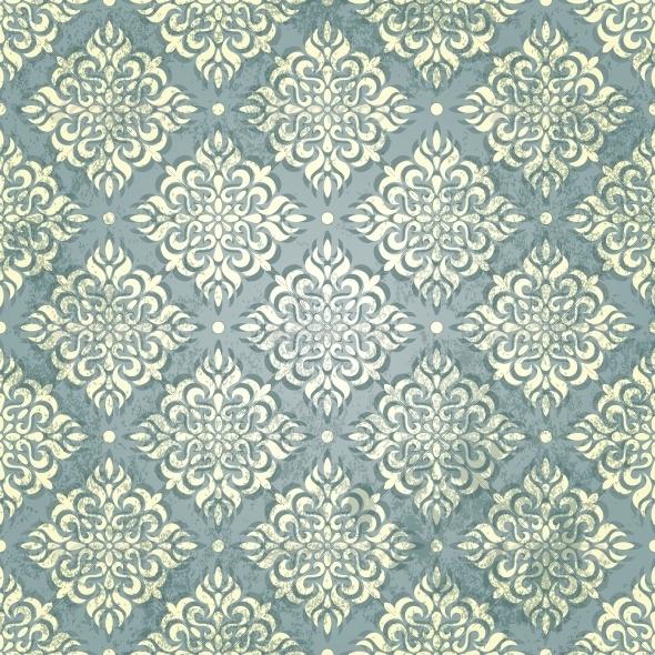 Vintage Wallpaper in Grunge Style - Patterns Decorative