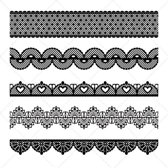 Seamless Lace Set - Borders Decorative
