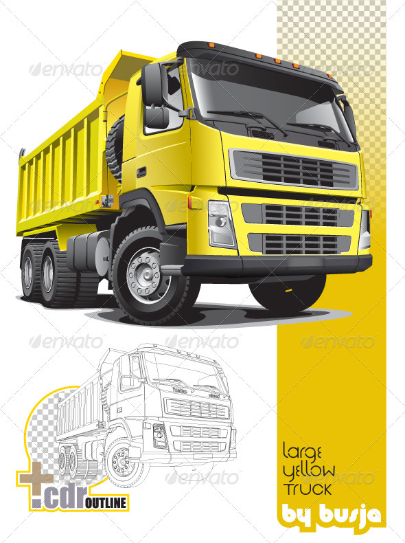 Large yellow truck - Industries Business