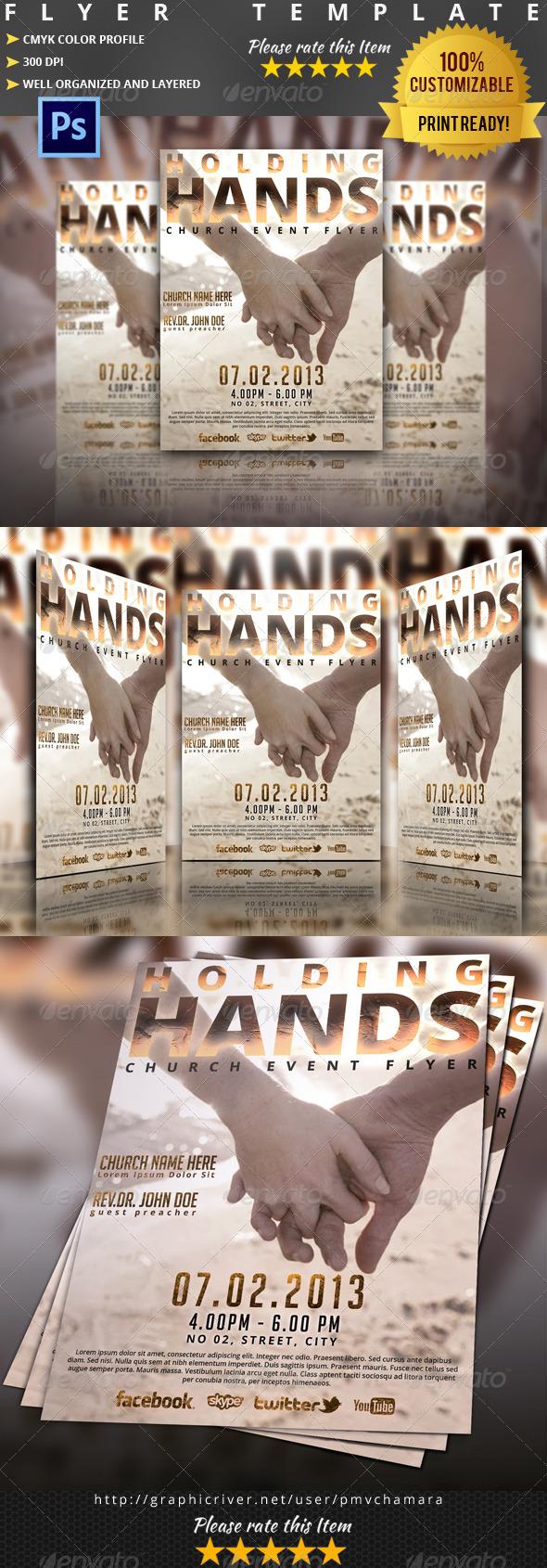 Holding Hands Church Flyer/Poster - Church Flyers