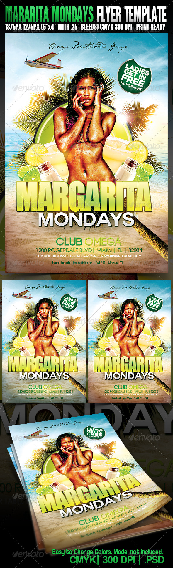 Margarita Mondays - Events Flyers