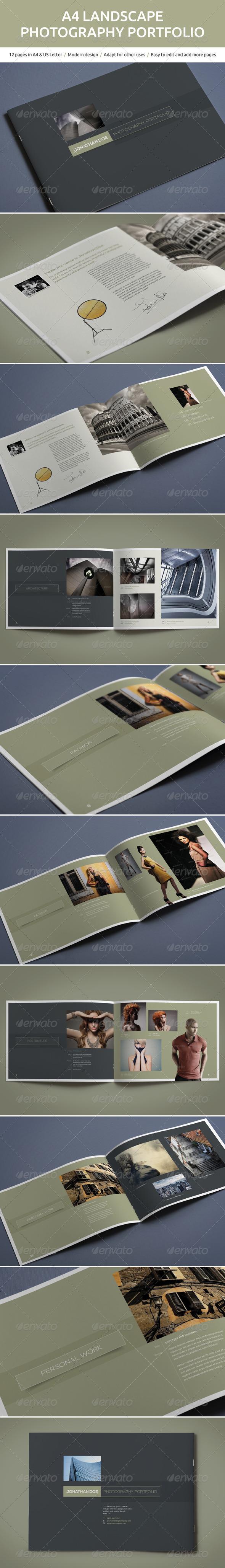A4 Landscape Photography Portfolio - Portfolio Brochures