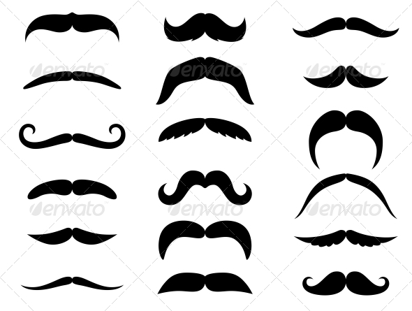 Black Mustaches  - Miscellaneous Vectors