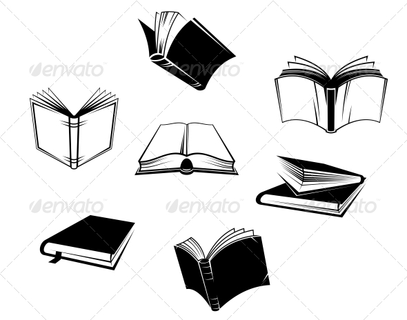 Books Icons and Symbols - Man-made Objects Objects