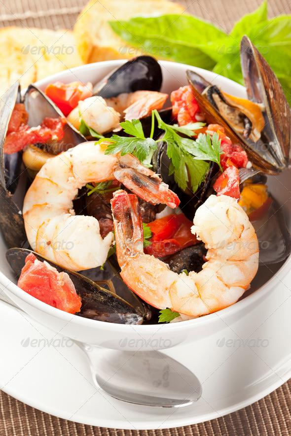 Homemade Italian Cioppino - Stock Photo - Images