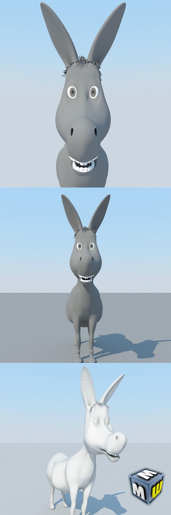 Donkey Cartoon MAX 2011 - 3DOcean Item for Sale