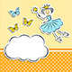 Fairy Princess with Paper Cloud and Butterflies - GraphicRiver Item for Sale