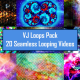 Moving Geometric Shape Madness VJ Loop Pack - 20 Loops
