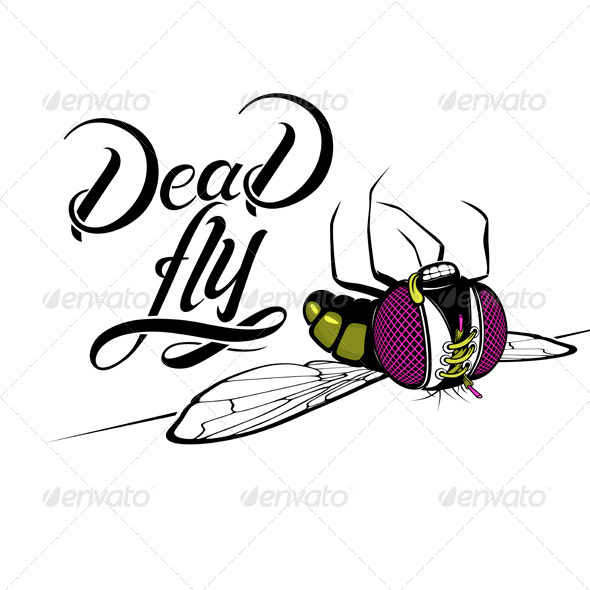Cartoon Dead Fly - Animals Characters