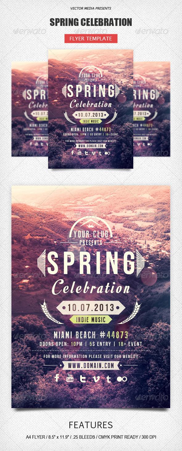 Spring Celebration - Flyer