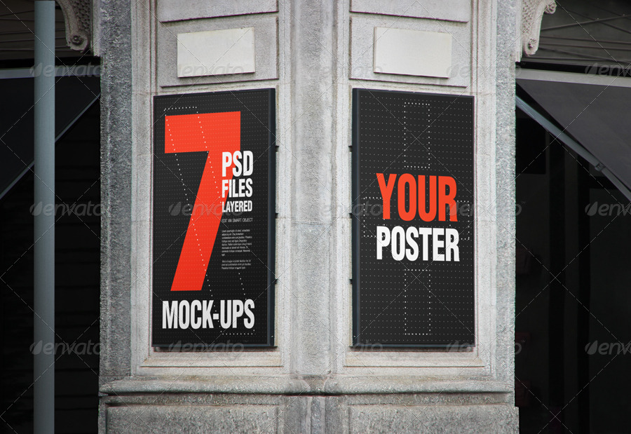 flyer and poster urban mock-ups