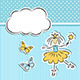 Princess with Paper Cloud and Butterflies - GraphicRiver Item for Sale