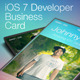 iOS 7 Developer Business Card - GraphicRiver Item for Sale