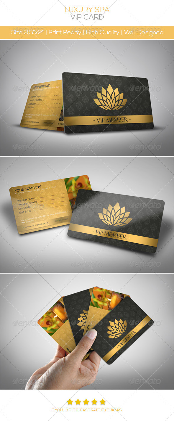 Luxury Spa Vip Card - Loyalty Cards Cards & Invites