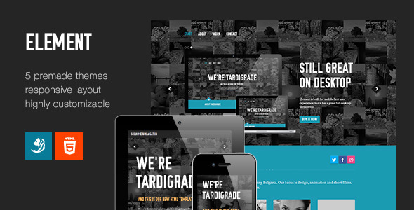 Element – Flexible One Page Template
