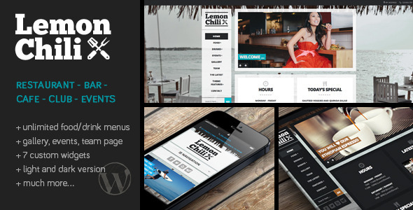 LemonChili – A Restaurant WordPress Theme