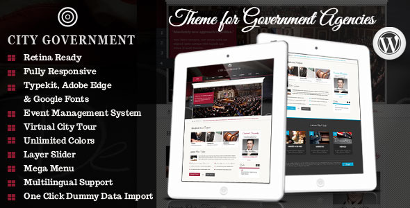 City Government – WordPress Retina Theme