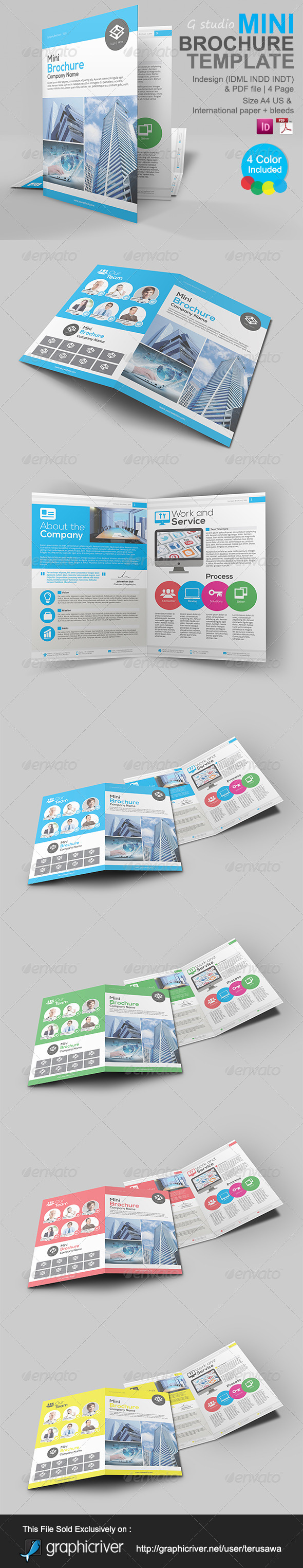 Gstudio mini brochure template by terusawa graphicriver for Mini brochure template